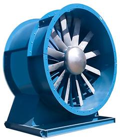 ventiladores axial para ventilación industrial