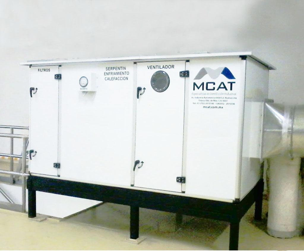 ventilación mecánica industrial
